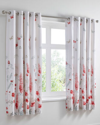 "Grasmere Eyelet Curtains 66x72"""
