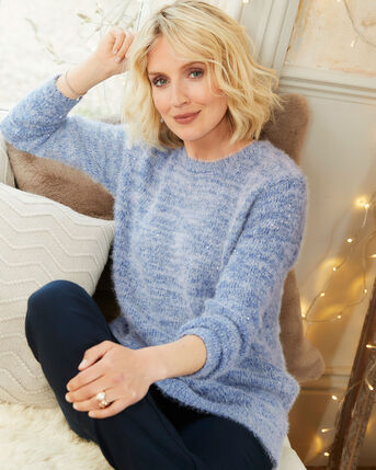 Fluffy Sequin Knitted Jumper