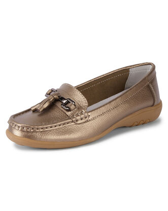 Leather Flexisole Buckle Loafers