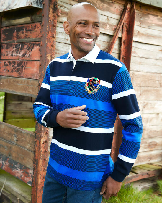 6 Nations Long Sleeve Stripe Rugby Shirt