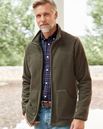 Check Lined Fleece Jacket