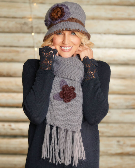 082c6199e5d Knitted Hat and Scarf Set at Cotton Traders