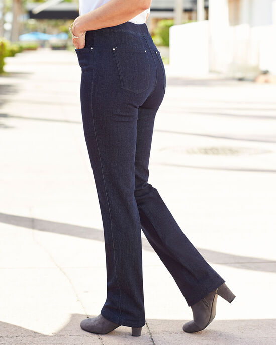 Premium Pull-on Rib Waist Jeans (Jeans)