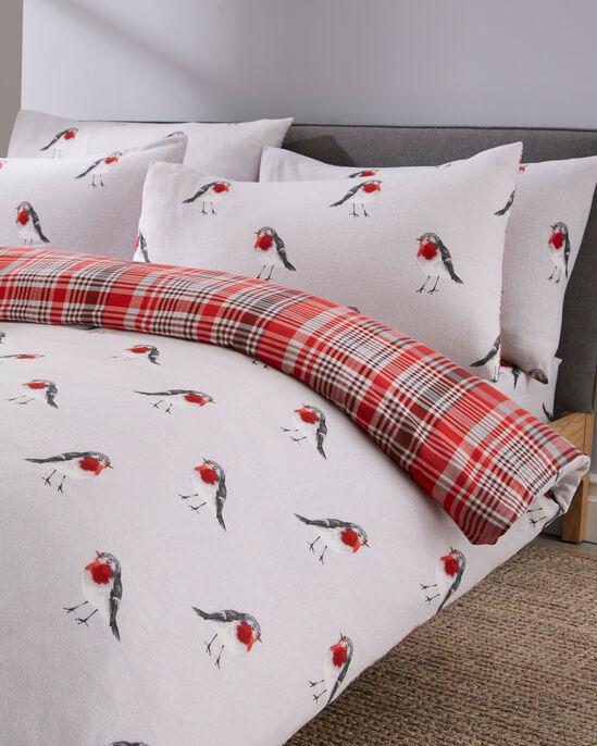 Red Robin Brushed Cotton Duvet Set