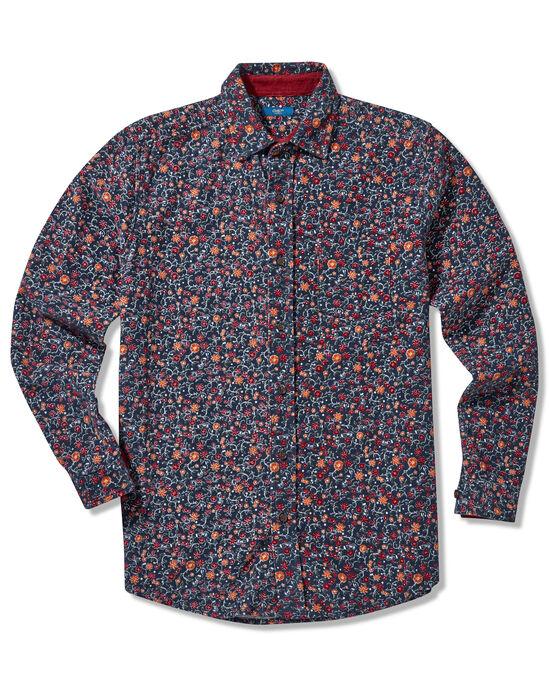 Long Sleeve Printed Cord Shirt