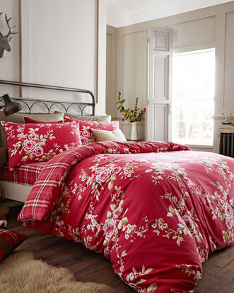 Brushed Cotton Reversible Duvet Set