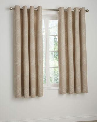 "Harlow Jacquard Eyelet Curtains 66x72"""