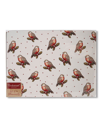 Red Robin Pack of 4 Placemats and Coaster Set
