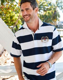 Short Sleeve England Stripe Rugby Shirt