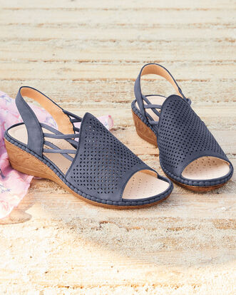 Cutwork Elastic Sandals