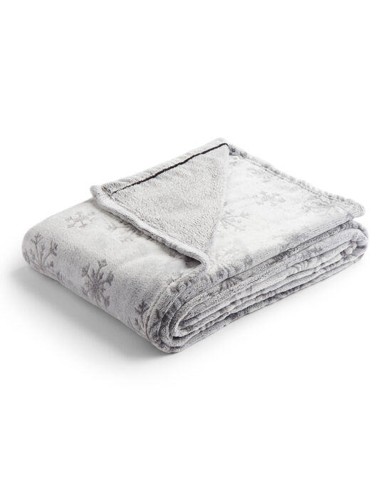 Snowflake Fleece Throw