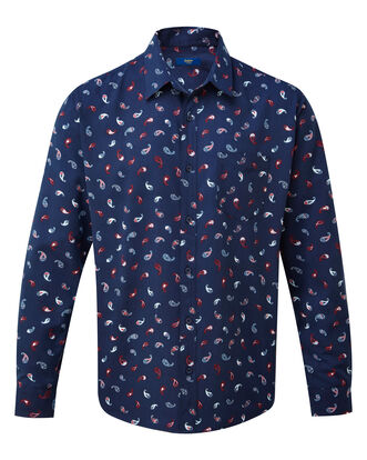 Paisley Print Long Sleeve Soft Touch Shirt