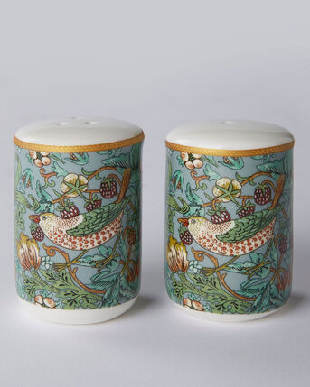 William Morris Strawberry Thief Salt and Pepper Set