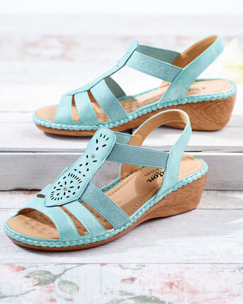 Cutwork Elastic Sandals