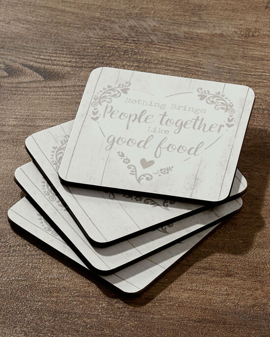 Pack of 4 Food For Thought Coasters