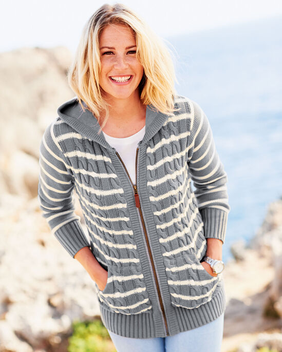 Cotton Hooded Cardigan