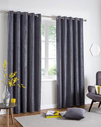 Luxury Chenille Eyelet Curtains
