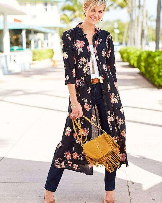 Floral Button-through Long Printed Dress
