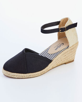 Espadrille Closed Back Wedge Sandals