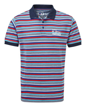 Help For Heroes Birdseye Stripe Polo Shirt