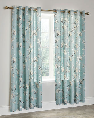 "Jessica Cotton Eyelet Curtains 66X72"""