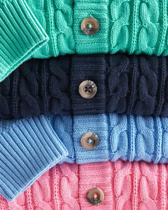 Cotton Cable Button Through Cardigan