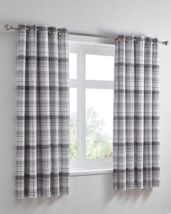 "Caulfield Eyelet Curtains 66x72"""