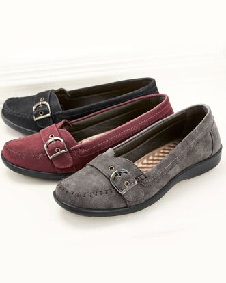 Cushion Support Flexisole Buckle Loafers