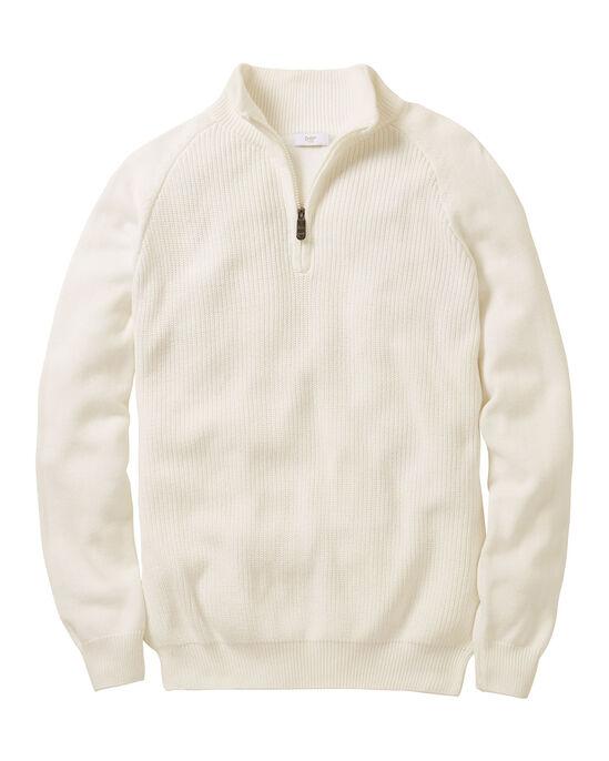 Cotton Half Zip Jumper