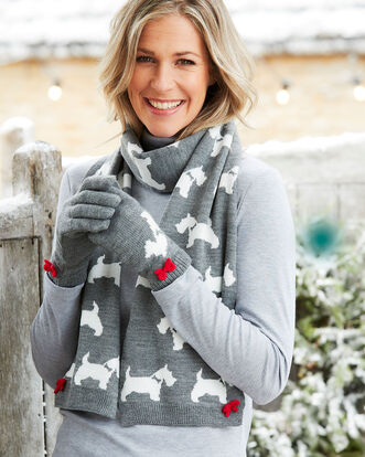 Animal Design Scarf and Glove Set