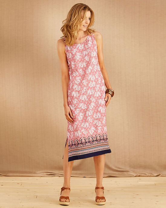 Border Print Dress