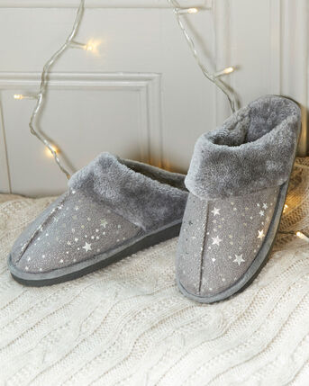 Fur Lined Mule Slippers