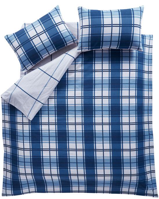 Tobias Check Brushed Cotton Duvet Set