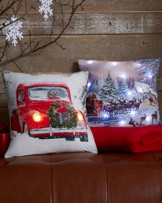 Light Up Christmas Car Cushion