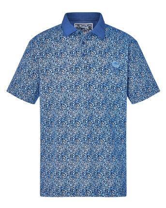 Short Sleeve Floral Print Polo Shirt