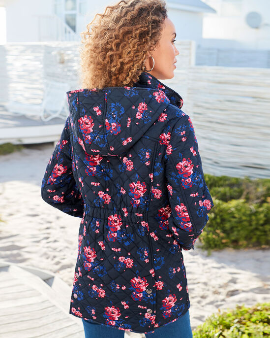 Fleece Lined Quilted Printed Jacket
