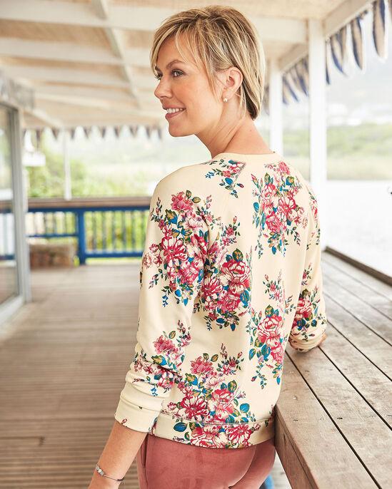Floral Crew Neck Sweatshirt