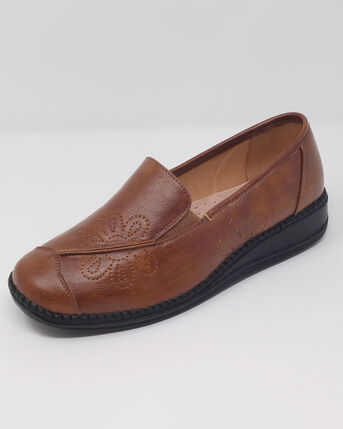 Flexisole Slip-on Embroidered Shoes