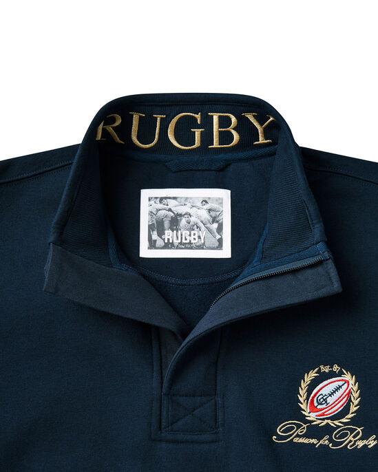 Rugby Half Zip Sweat Top