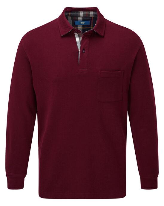 Flannel Trim Polo Shirt