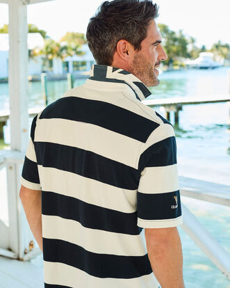 Guinness Short Sleeve Stripe Rugby Shirt
