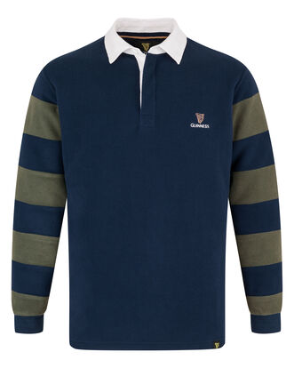 Guinness Stripe Sleeve Fleece Rugby Shirt