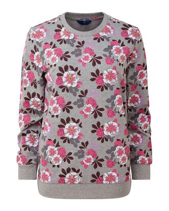 Grey Marl Printed Sweatshirt