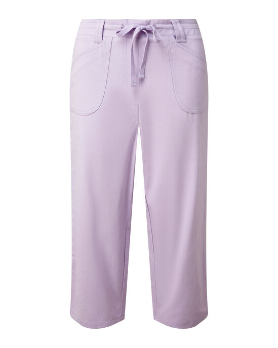 Wrinkle Free Pull-on Crop Trousers
