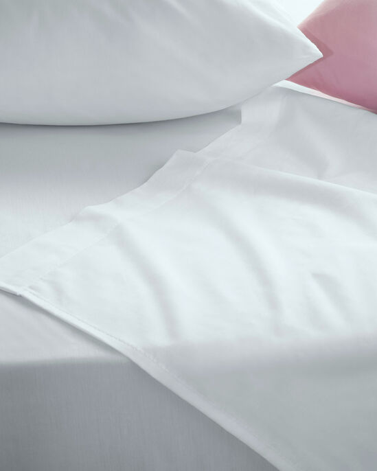 200 Thread Count Cotton Percale Flat Sheet King Size