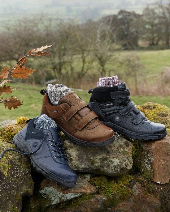 Waterproof Lace-up Walking Shoes