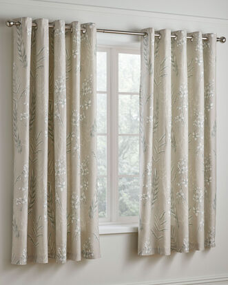 Howarth 200 TC Cotton Eyelet Curtains 66x72""