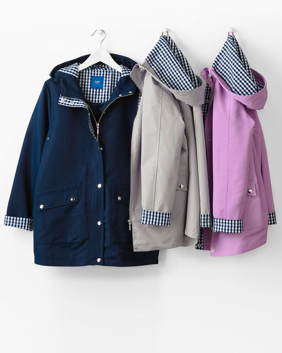 Showerproof Gingham Trim Jacket