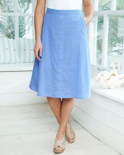 Cotton Linen-Blend Skirt