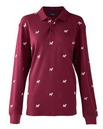 Light Berry Long Sleeve Jersey Westie Polo Shirt